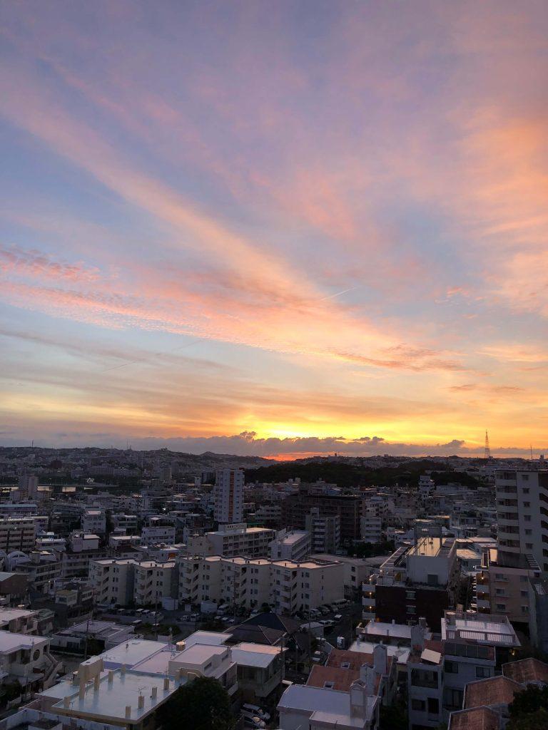 4月19日 今日の沖縄の朝は晴れ